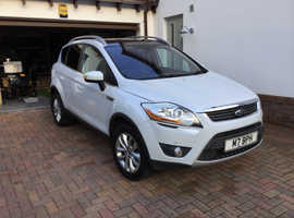 Ford Kuga, 2008 (58) White Estate, Manual Diesel, 160,000 miles