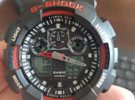 Men's G-SHOCK - The GA 100-1A1 Military Series Watch With Red Led