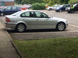 BMW 3 Series, 2003 (53) Silver Saloon, Manual Diesel, 84,500 miles