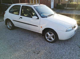 Ford Fiesta, 1999 (T) White Hatchback, Manual Petrol, 58,000 miles