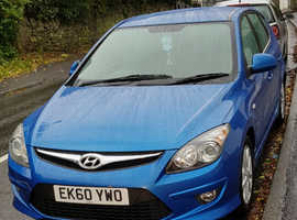 Hyundai i30, 2010 (60) Blue Hatchback, Automatic Diesel, 78,000 miles
