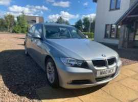 BMW 3 Series, 2008 (08) Grey Saloon, Manual Diesel, 83,700 miles, Low Fuel Consumption