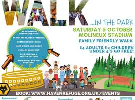 The Haven's Walk in the Park on Saturday 5th October