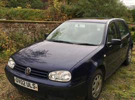 Volkswagen Golf, 2002 (02) Blue Hatchback, Automatic Petrol, 101,000 miles
