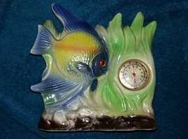 Original retro tropical fish thermometer
