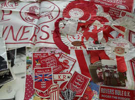 Hull Kingston Rovers memorabilia collection.