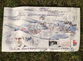 star trek enterprise D blueprint drawing