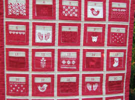 Santa's Reindeer's fabric Advent calendar.