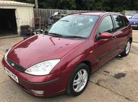 Ford Focus, 2004 (53) Red Hatchback, Manual Petrol, 95,000 miles, MOT Mar 2020