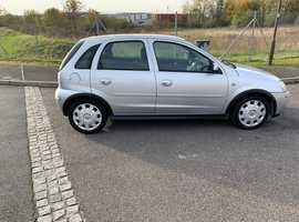 Vauxhall Corsa, 2004 (04) Silver Hatchback, Manual Petrol, 68,000 miles