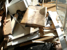Rubbish garden house factories cleared