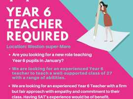 Year 6 Teacher Required ASAP