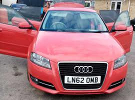Audi A3, 2012 (62) Red Hatchback, Manual Diesel, 164,000 miles