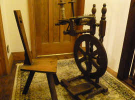 Spinning Wheel and a Traditional stool in working order.