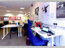 Affordable community-oriented coworking space in Brompton