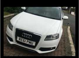 Audi A3, 2011 (61) White Hatchback, Manual Diesel, 173,000 miles