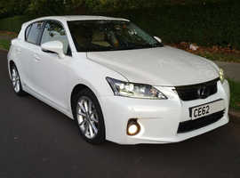Lexus Ct, 2012 (62) white hatchback, Cvt Petrol, 60250 miles