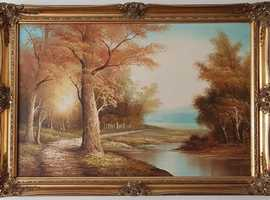 Beautiful Large Landscape Painting by R Hansen