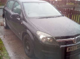 Vauxhall Astra, 2007 (07) Black Hatchback, Manual Petrol, 98,854 miles