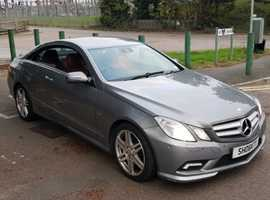 Mercedes E Class, 2009 (59) Silver Coupe, Automatic Diesel, 106,000 miles