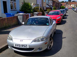 Mazda MX-5, 2001 (51) Silver Convertible, Manual Petrol, 57,000 miles
