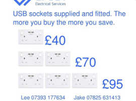 Offer !!!! From Crest electrical. USB sockets fitted see picture.