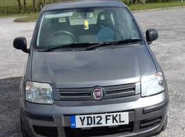 Fiat Panda, 2012 (12) Grey Hatchback, Manual Petrol, Under 49,000 miles, Only £30 Tax