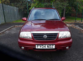 Suzuki Grand Vitara, 2004 (04) Red Estate, Manual Petrol, 96,135 miles