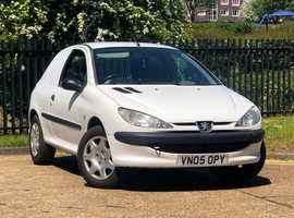 2005 (05) PEUGEOT 206 1.4d 3 Dr VAN in WHITE, NEW MOT, NO VAT