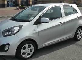 Kia Picanto, 2012 (12) silver hatchback, Manual Petrol, 69,000 miles