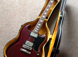 1976 Gibson SG Standard with its period case