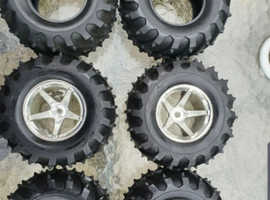 Rc Nitro New Wheels & Tyres plus 2 spare tyres 4x4 HPI 1/10 Ftx