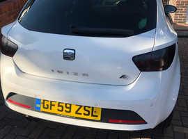 Seat Ibiza, 2009 (59) white hatchback, Semi auto Petrol, 124,900 miles