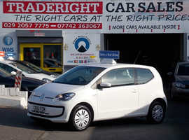 Volkswagen Up, 2012 (62) White Hatchback, Manual Petrol, 45,655 miles