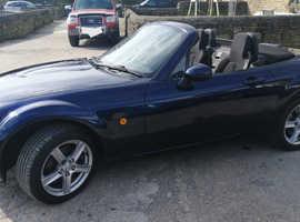 Mazda MX-5, 2008 (08) Blue Convertible, Manual Petrol, 55,000 miles