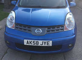 Nissan Note, 2008 (58) Blue MPV, Automatic Petrol, 71,990 miles