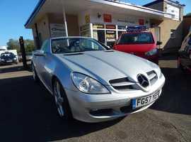 Mercedes Slk, 2007 (57) Silver Convertible, Automatic Petrol, 44,000 miles