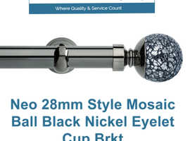 Shop Now! Hallis Neo 28mm Style Mosaic Ball Black Nickel Eyelet Cup Brkt