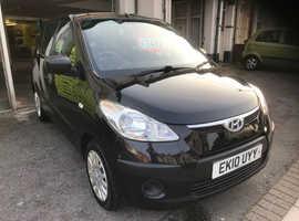 Hyundai i10, 2010 (10) Black Hatchback, Manual Petrol, 101,000 miles