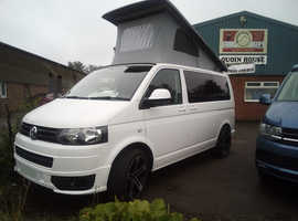 2015 (15) VW SWB T5 White Campervan with Black Body Kit.  LOW MILEAGE - 19,000 ONLY