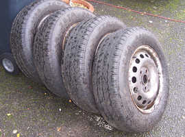 4 x VW Transporter T4 wheels and almost new tyres 195.70.15C