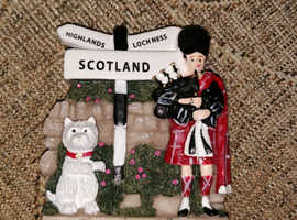 New Scottish Greyfriars Bobby and Piper Fridge Magnet Scottish Souvenir 3d Solid