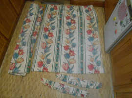 LINED CURTAINS TULIP DESIGNED WITH TIE BACK