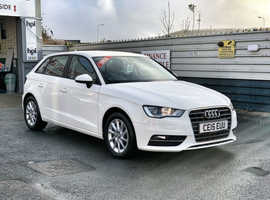 2015/15 Audi A3 1.6 TDi SE Sportback finished in Old English White.  47606 miles