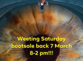 Saturday bootsale