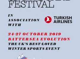 Ski and snowboard show Battersea 3 E-tickets available