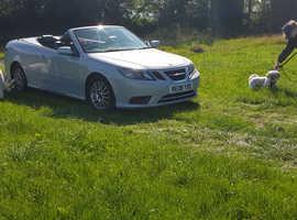 Saab 9-3, 2008 (08) Silver Convertible, Manual Diesel, 186,433 miles