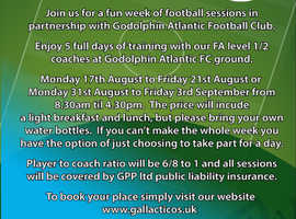 Summer football camp Newquay
