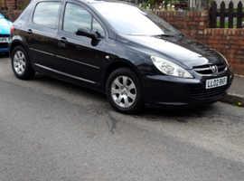 Peugeot 307, 2002 (02) Black Hatchback, Manual Petrol, 35,000 miles