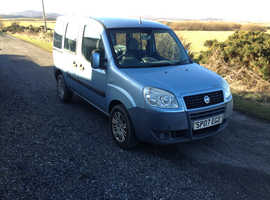 Fiat Doblo, 2007 (07) Blue MPV, Manual Petrol, 70,410 miles WHEEL CHAIR DISABLED VEHICLE